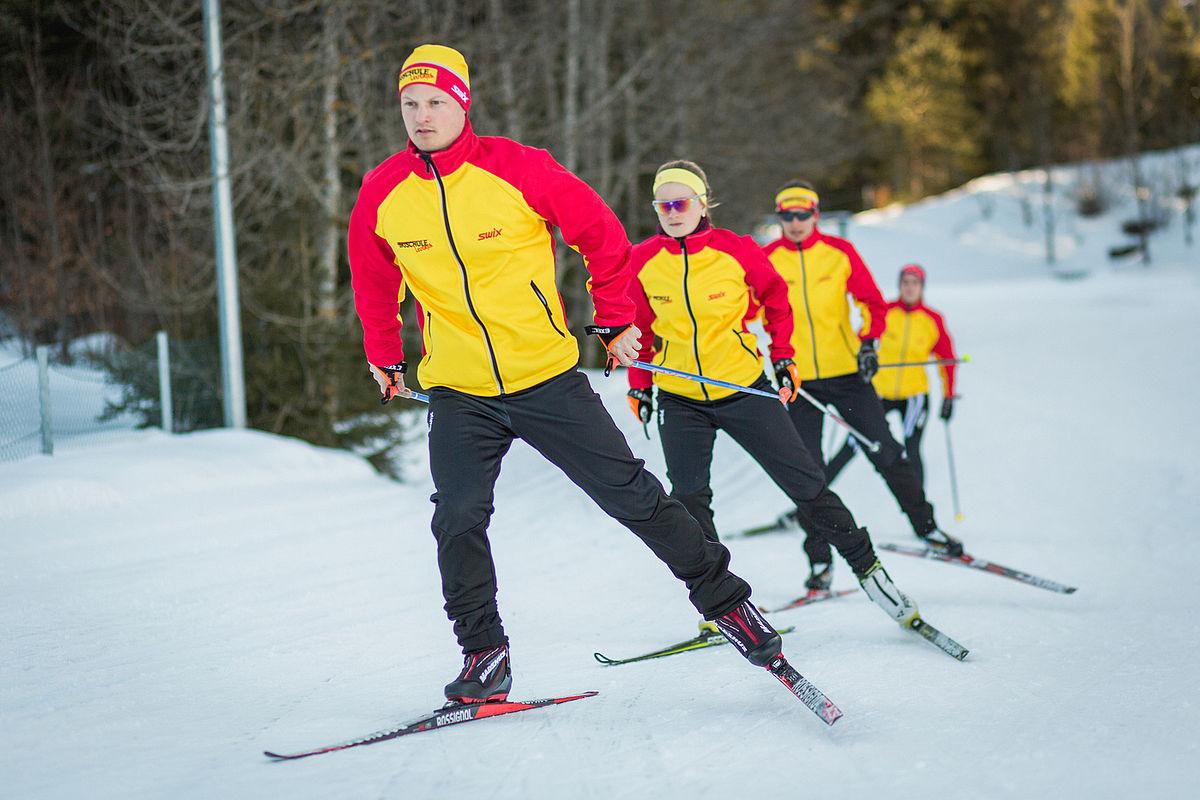 kindern skifahren langlauf übungen